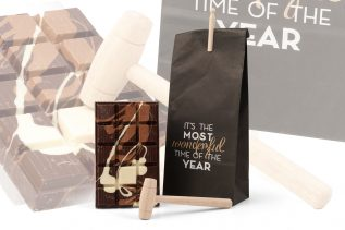 Relatiepakket Chocolade tablet in paperbag