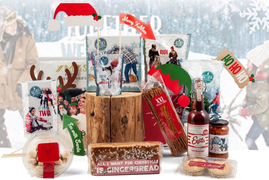 Kerstpakket met foto props