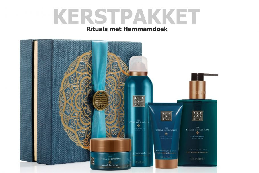 The Ritual of hammam met hammamdoek in dit kerstpakket