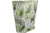 Paperbag met bladprint in dit zomerpakket