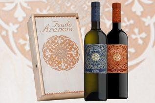Wijnkist Feudo Arancio 2-vaks kist