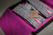 Kerstpakket met soxs dames in verpakking
