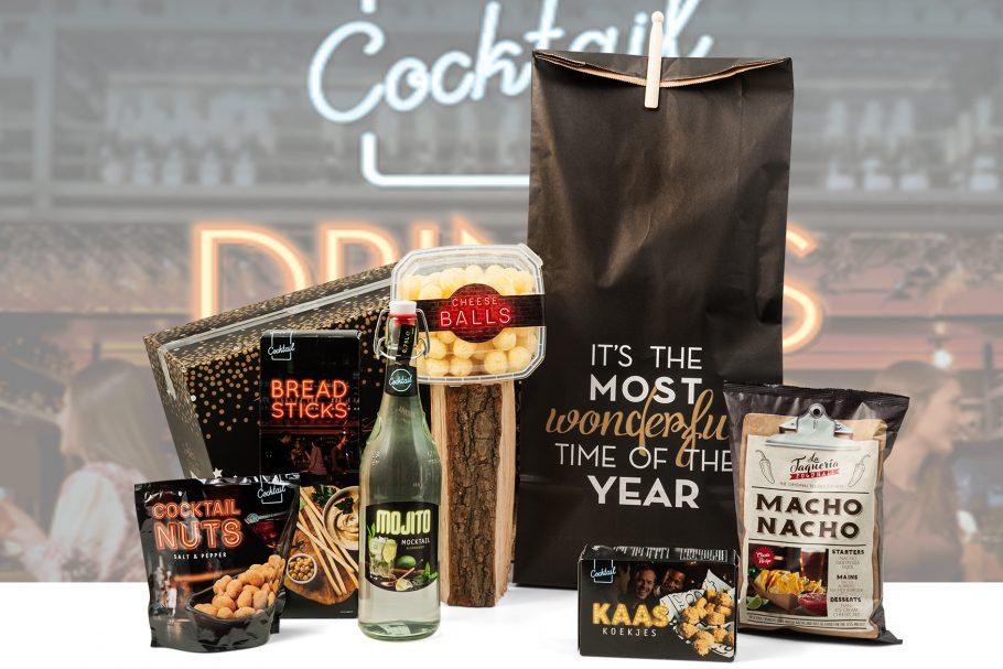 Kerstpakket met cocktail producten