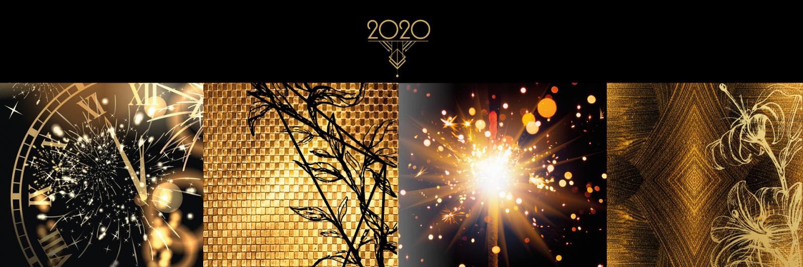 Het jaar 2020 nieuw kerstpakkettenthema